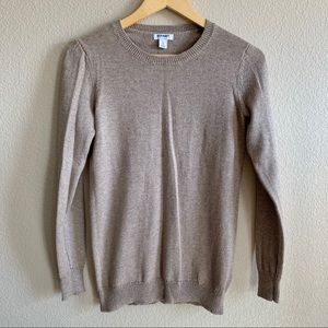 Old Navy Classic Crew Neck Sweater Taupe Small